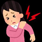 肩の痛みをかかえる女性
