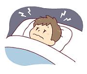 夜眠れない男性