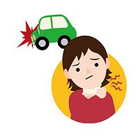 交通事故でむちうちになった女性