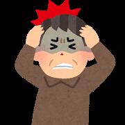 脳梗塞を起こした男性のイラスト
