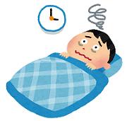 睡眠障害の男性