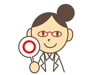 目の調節をする女医